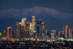 Los Angeles Mountain Snow Caps